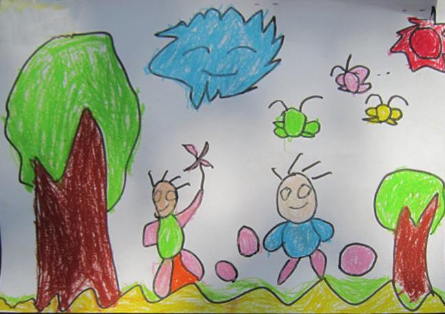 幼儿园小朋友的画图片